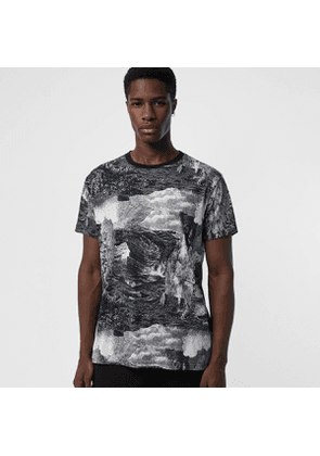 Burberry Dreamscape Print Cotton T-shirt, Black