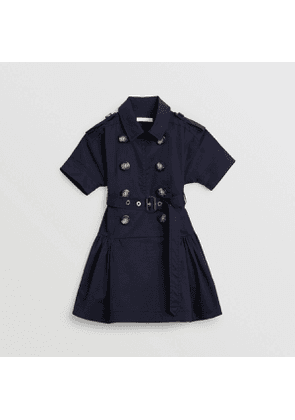Burberry Childrens Stretch Cotton Trench Dress, Size: 6Y, Black