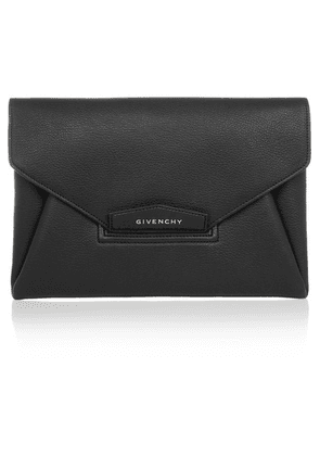 Givenchy - Antigona Textured-leather Clutch - Black