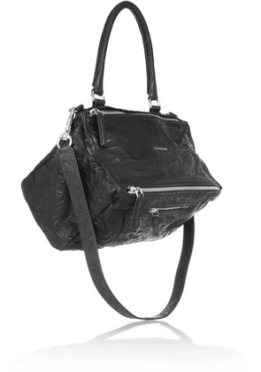 Givenchy - Medium Pandora Washed-leather Shoulder Bag - Black