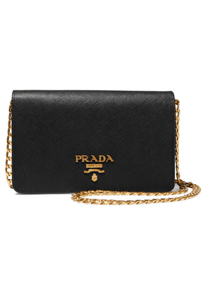 Prada - Wallet On A Chain Textured-leather Shoulder Bag - Black