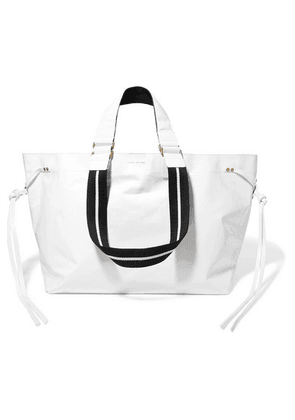 Isabel Marant - Wardy Canvas-trimmed Textured-leather Tote - White
