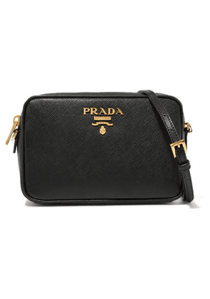 Prada - Textured-leather Shoulder Bag - Black