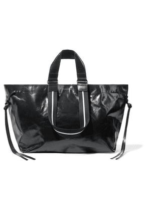 Isabel Marant - Wardy Glossed-leather Tote - Black