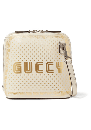 Gucci - Guccy Printed Leather Shoulder Bag - Ivory