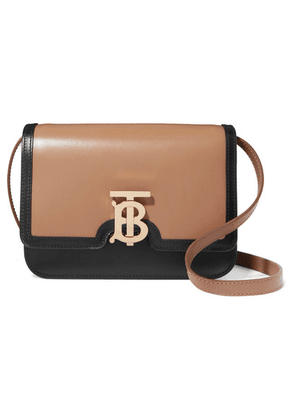 Burberry - Tb Two-tone Leather Shoulder Bag - Camel