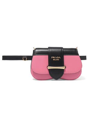 Prada - Sidonie Two-tone Leather Belt Bag - Pink