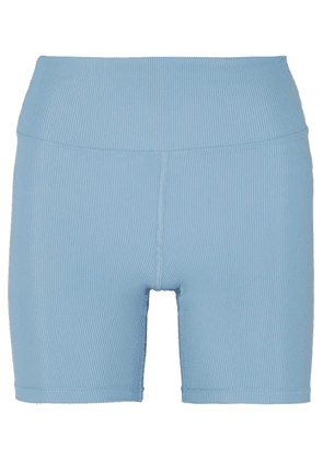 Heroine Sport - Cycling Ribbed Stretch Shorts - Light blue