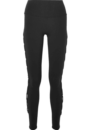 Alo Yoga - Interlace Stretch Leggings - Black