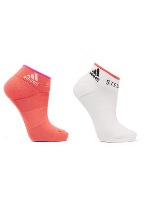 adidas by Stella McCartney - + Parley For The Oceans Set Of Two Stretch-knit Socks - Orange