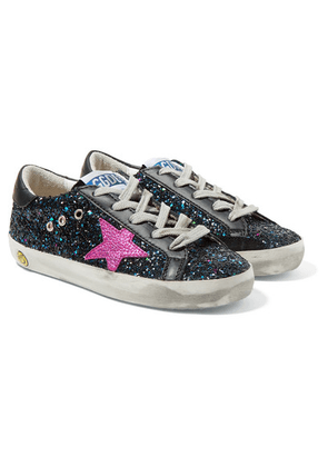 Golden Goose Deluxe Brand Kids - Size 28 - 35 Superstar Distressed Leather And Suede Sneakers