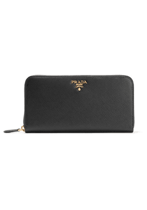 Prada - Textured-leather Continental Wallet - Black