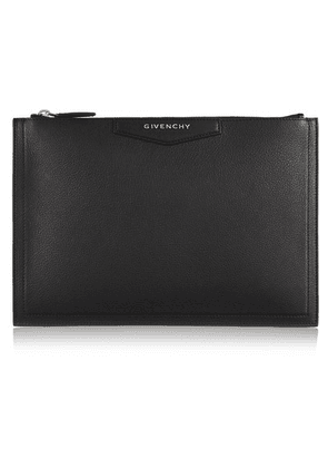 Givenchy - Antigona Textured-leather Pouch - Black