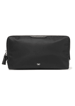 Anya Hindmarch - Make Up Small Leather-trimmed Shell Cosmetics Case - Black