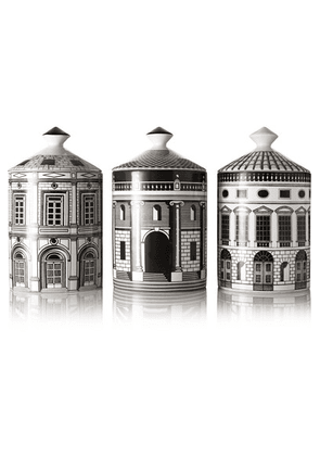 Fornasetti - Ordine Architettonico Set Of Three Candles, 3 X 300g - one size