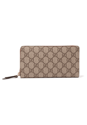 Gucci - Coated-canvas Continental Wallet - Beige