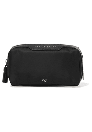 Anya Hindmarch - Girlie Stuff Leather-trimmed Shell Cosmetics Case - Black
