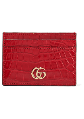 Gucci - Marmont Petite Alligator Cardholder - Red