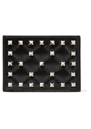 Valentino - Valentino Garavani The Rockstud Quilted Leather Cardholder - Black