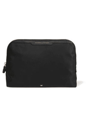 Anya Hindmarch - Lotions And Potions Leather-trimmed Shell Cosmetics Case - Black