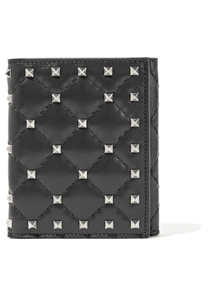 Valentino - Valentino Garavani The Rockstud Spike Quilted Leather Wallet - Black