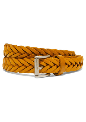 Anderson's - Woven Leather Belt - Mustard