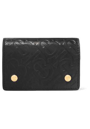 Burberry - Embossed Leather Wallet - Black