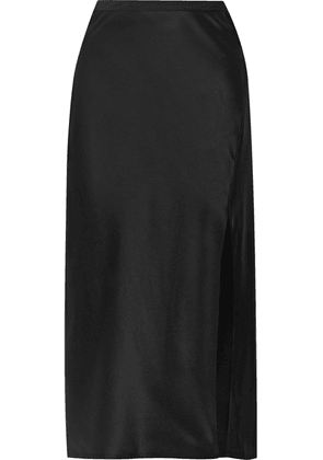 Anine Bing - Dolly Silk-satin Midi Skirt - Black