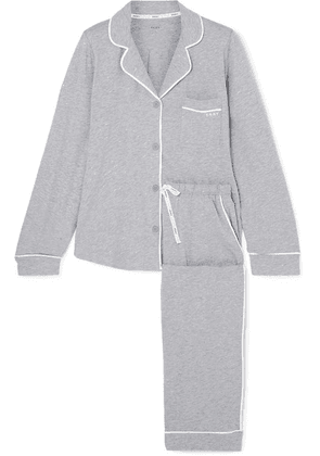 DKNY - Signature Cotton-blend Jersey Pajamas - Gray