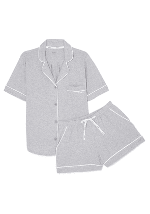 DKNY - Signature Cotton-blend Jersey Pajamas - Light gray