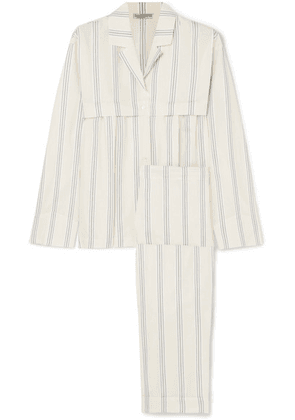 Three Graces London - Moore And Marmee Striped Cotton-voile Pajama Set - Cream