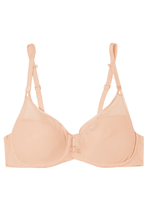 Chantelle - Aéria Stretch-mesh And Tulle Underwired Contour Bra - Beige