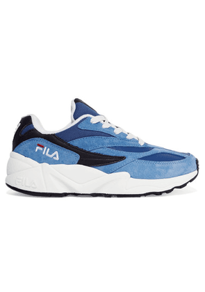 FILA - 94 Suede, Leather And Canvas Sneakers - Blue