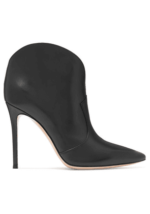 Gianvito Rossi - Mable 105 Leather Ankle Boots - Black