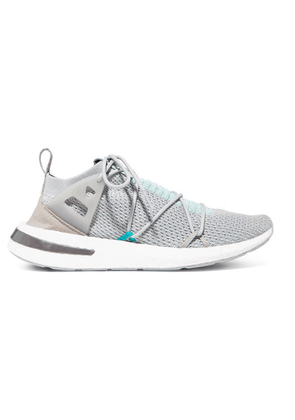 adidas Originals - Arkyn Rubber-trimmed Primeknit Sneakers - Gray