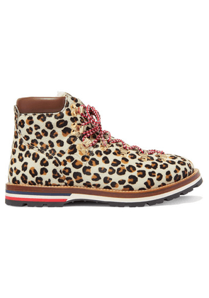 Moncler - Blanche Shearling-lined Calf Hair Ankle Boots - Leopard print