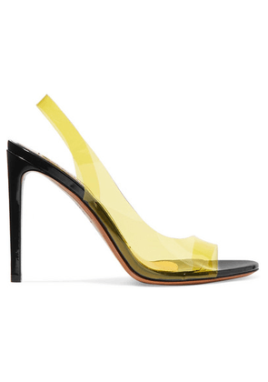 Alexandre Vauthier - Amber Ghost Patent-leather And Pvc Sandals - Yellow