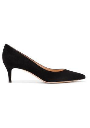 Gianvito Rossi - 55 Suede Pumps - Black