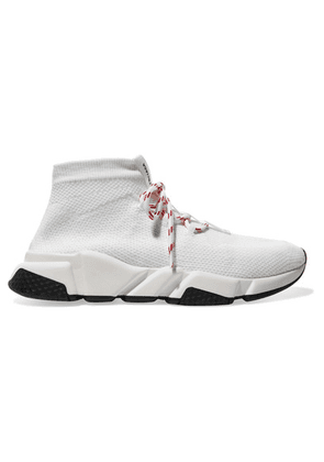 Balenciaga - Speed Stretch-knit High-top Sneakers - White