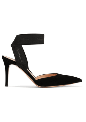 Gianvito Rossi - 85 Suede Pumps - Black