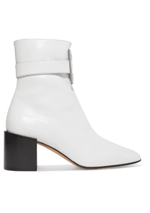 Givenchy - Logo-embellished Two-tone Leather Ankle Boots - Black