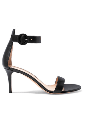 Gianvito Rossi - Portofino 70 Leather Sandals - Black