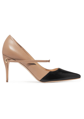 01fe67adeb2 Jennifer Chamandi - Lorenzo Two-tone Leather Pumps - Beige
