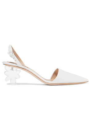 Simone Rocha - Leather And Perspex Slingback Pumps - White