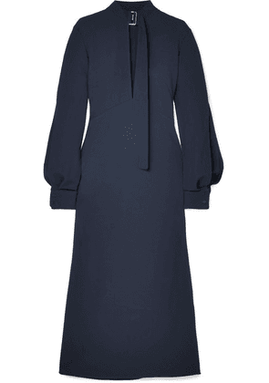 Victoria Beckham - Cutout Crepe Midi Dress - Navy