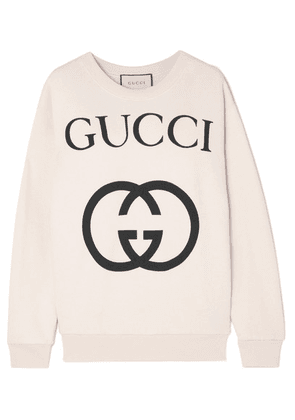Gucci - Printed Cotton-terry Sweatshirt - Ivory