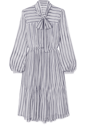 MICHAEL Michael Kors - Carolina Striped Gauze Midi Dress - Blue