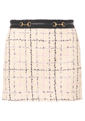 Gucci - Embellished Cotton-blend Bouclé-tweed Mini Skirt - Ivory