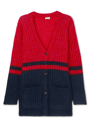 By Malene Birger - Two-tone Ribbed-knit Cardigan - Navy