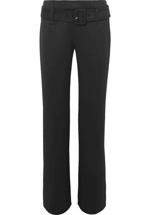 Prada - Belted Tech-jersey Straight-leg Pants - Black